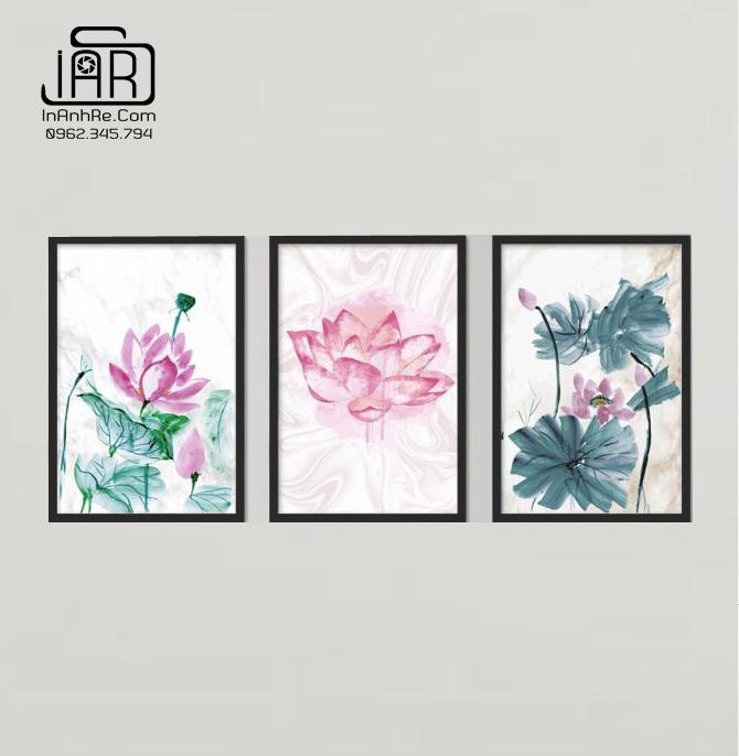 Tranh hoa sen bộ 3